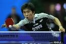 图文:男乒世界杯半决赛 柳承敏台上推挡斜线