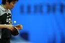图文:男乒世界杯半决赛 柳承敏思索球路变化