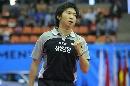 图文:男乒世界杯半决赛 柳承敏庆祝自己得分