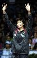 图文:[羽毛球]邀请赛女单朱琳摘银 登上领奖台