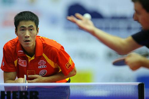 图文:男乒世界杯三四名决赛 王励勤4比0胜波尔