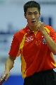 图文:男乒世界杯三四名决赛 大力打出逼人气势