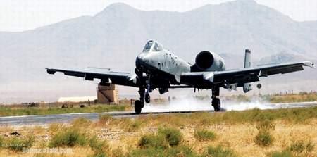 巴格拉姆空军基地的A-10攻击机