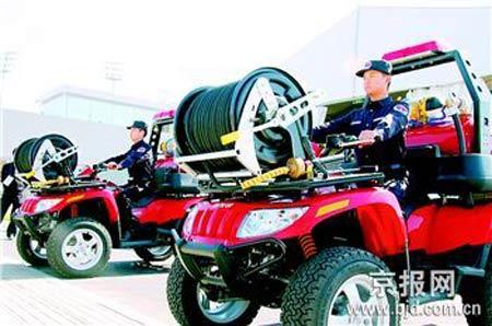 四驱消防摩托车