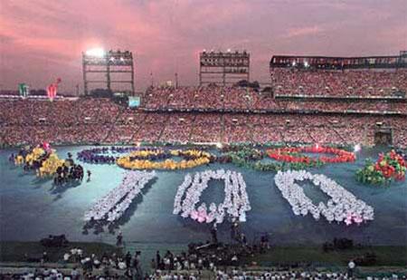图文:百年奥运回顾图片 奥运开幕式回顾
