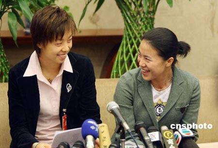两代乒坛一姐共话奥运梦想