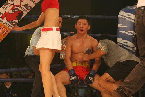 图文:拳击拳击举牌小姐