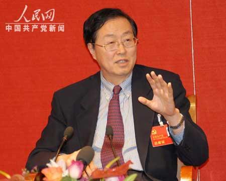 十七大代表、人民银行行长周小川。何 萌摄
