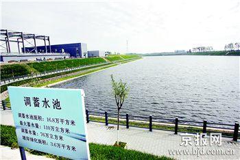 引温入潮工程的污水处理厂和调蓄水池。