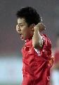 图文:[资格赛]国足7-0缅甸 刘健狂呼庆祝