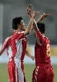 图文:[资格赛]国足7-0缅甸 大头小杜庆祝