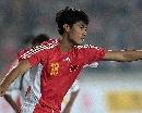图文:[资格赛]国足7-0缅甸 杨林庆祝进球
