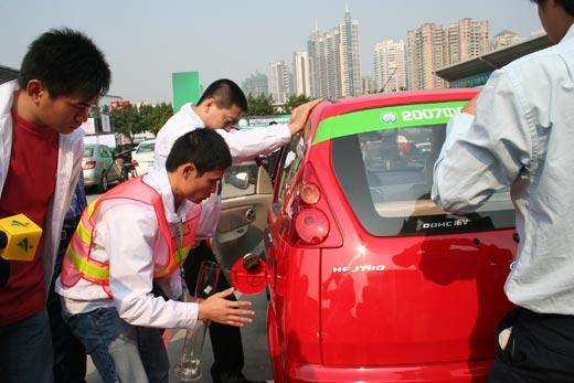 路宝荣膺广州站1.1升排量组节油冠军.  来自全国各地的汽车