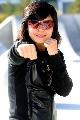 图文:[拳击]女拳王张喜燕写真 标准的拳姿