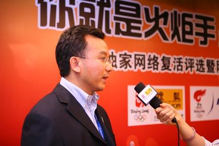 陈陆明接受采访
