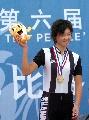 图文:城运会场地自行车赛况 姜帆追逐赛夺金牌
