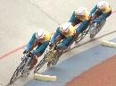 图文:自行车男团追逐赛昆明队夺冠 昆明队比赛