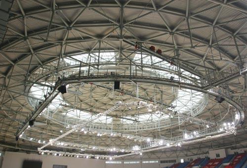 北工大体育馆预应力弦支穹顶结构