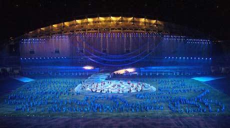 第六届城运会开幕式彩排