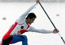 图文:男子单人划艇12公里比赛