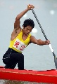图文:男子单人划艇12公里比赛 武汉选手得第三
