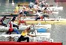 图文:男子皮划艇12公里比赛 起点出发勇争先