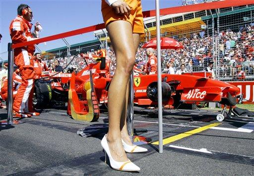 图文:[F1]07澳大利亚站回顾 车模修长的美腿