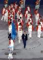 图文:第六届城运会开幕式 代表团喜笑颜开