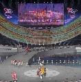 图文:第六届城运会开幕式 入场式即将结束