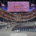 图文:第六届城运会开幕式 咸阳代表团入场