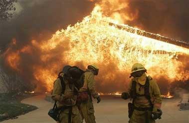 美国加州大火持续蔓延 《反恐24小时》暂停拍摄
