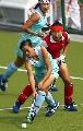 图文:城运会女子曲棍球A组第一轮 突破一条龙