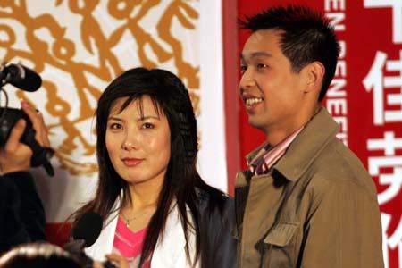 图文:朱启南生活照系列 同杜丽一起接受采访