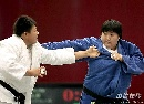 图文:六城会女子柔道+78公斤级 秦茜勇夺桂冠