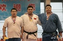 图文:六城男子柔道+100公斤白磊夺冠 上台合影