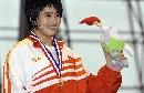 图文:城运会柔道女子78KG级 刘美璐向观众致意