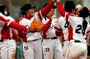 图文:大连女垒3-0战胜南京女垒 大连庆祝获胜