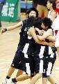 图文:城运会女篮决赛南京夺冠 终场时欣喜若狂