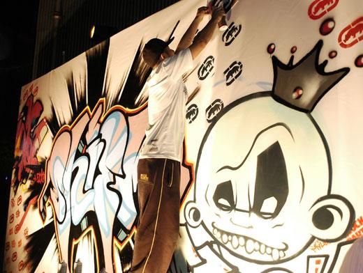涂鸦嘻哈手绘墙