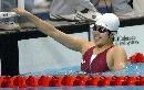 图文:女子4X100米混合泳接力 沈阳队员开心