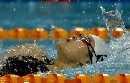 图文:女子4X100米混合泳接力 周妍欣在比赛中