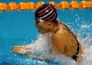 图文:女子4X100米混合泳接力 季丽萍在比赛中
