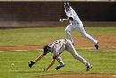 图文:[棒球]红袜VS落基山 短打