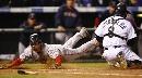 图文:[棒球]红袜VS落基山 麦克得分