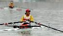 图文:赛艇女子8公里单人双桨 张杨杨在比赛中