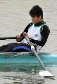 图文:男子8公里单人双桨决赛 澳门选手陈家铭