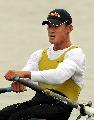 图文:男子8公里单人双桨决赛 憋着一股劲