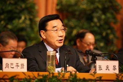 西藏自治区党委书记张庆黎在作动员(贾长飞摄)