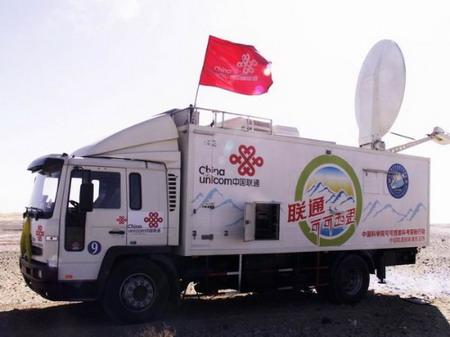 联通通讯车野外传输电视信号