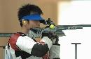 图文:朱启南获50米步枪三种姿势银牌 准备瞄准
